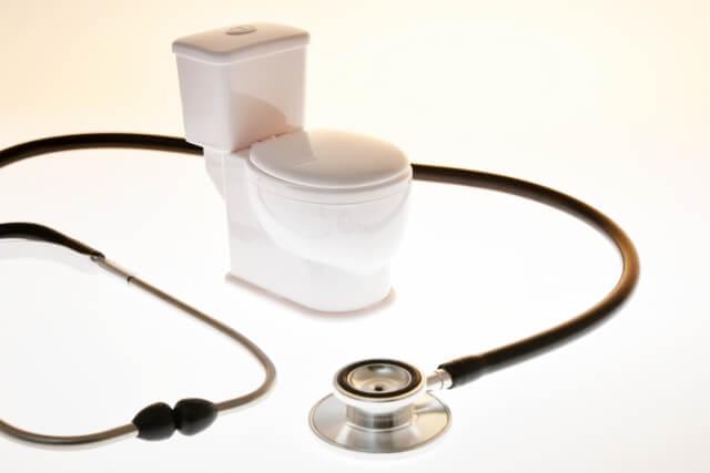 トイレと聴診器