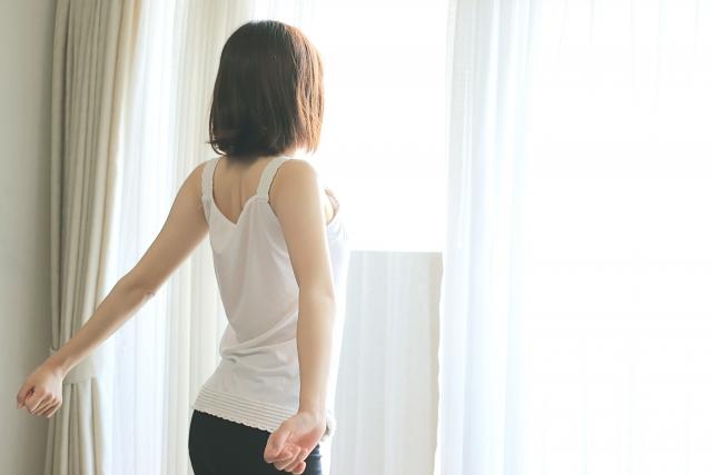 正しい生活習慣を送る女性
